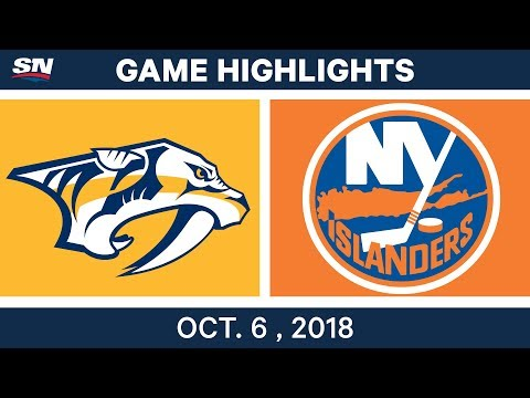 NHL Highlights | Predators vs. Islanders - Oct. 6, 2018