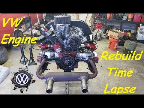 Volkswagen 1600cc engine rebuild time lapse