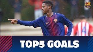 Fcb masia-academy: top 5 goals 14-15 april