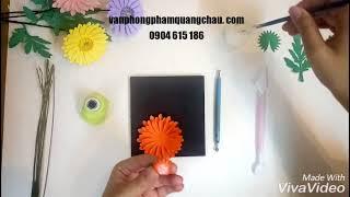 HƯỚNG DẪN LÀM HOA ĐỒNG TIỀN (How to make gerbera paper flowers by craft punch)