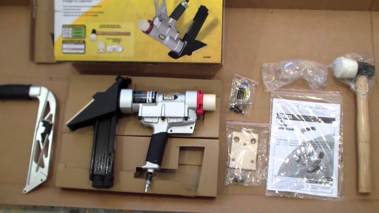 Harbor Freight Floor Nailer Review YouTube - Hardwood floor nail gun