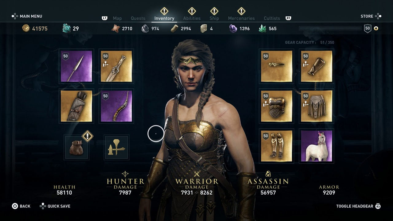 Assassin S Creed Odyssey Level 50 Full Amazonian Armor Defeat Exekias The Legend Cultist 2018 Youtube