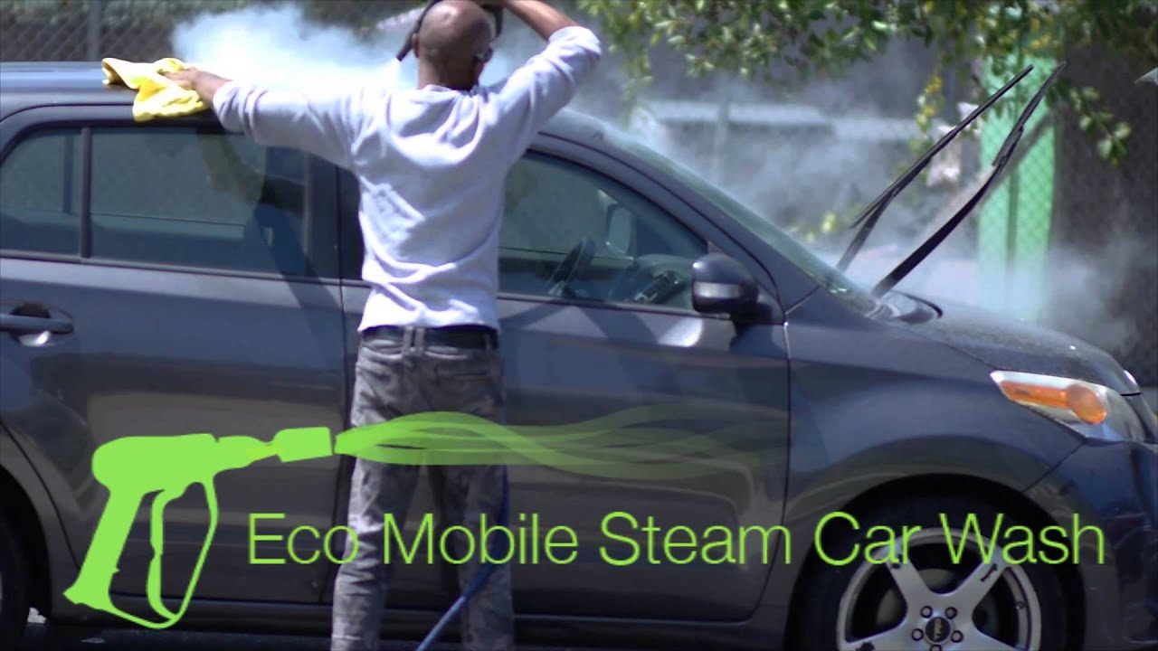 eco mobile steam car wash delivers youtube. Black Bedroom Furniture Sets. Home Design Ideas