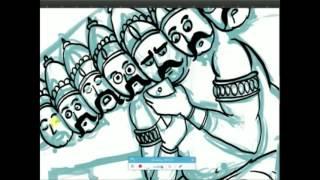 Ravan IllustrationProcess
