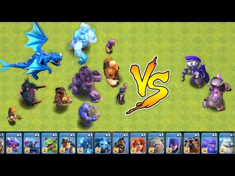 Every Troop In The Game Vs. MAX HEROES!!