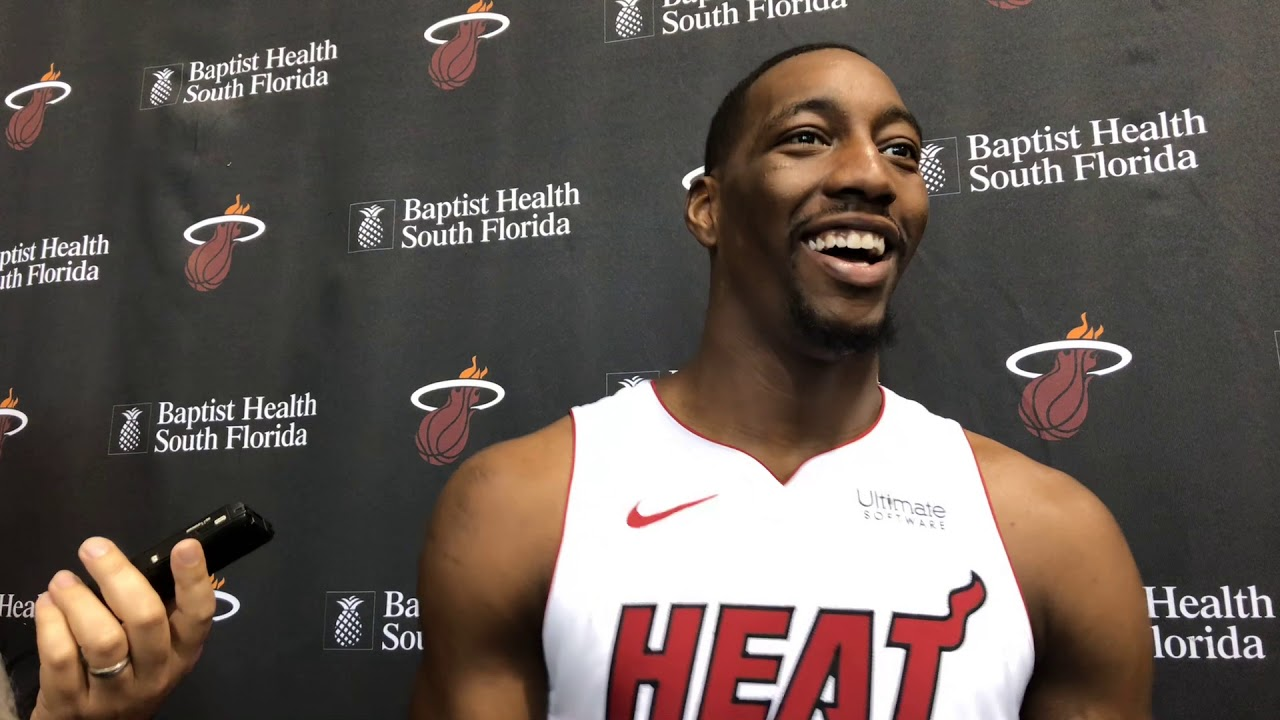 Bam Adebayo interview at 2018 Miami Heat Media Day - YouTube 9a5f1de3f