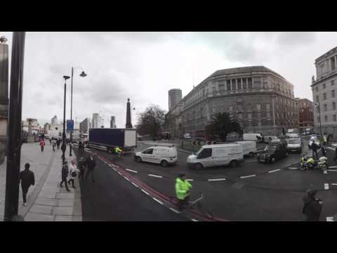 Scene of terror attack outside UK Parliament in Westminster (360 Video)