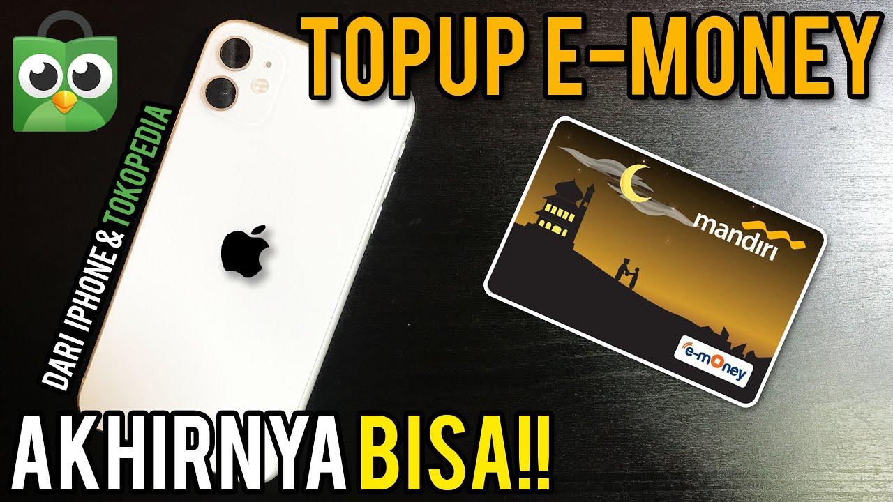 Cara Top Up E Money Etoll Di Iphone Dengan Mandiri Online Mandol Nfc Ios 13 Youtube