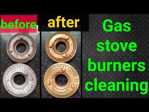 గ్యాస్ బర్నర్స్ క్లీనింగ్ // gas stove burners cleaning