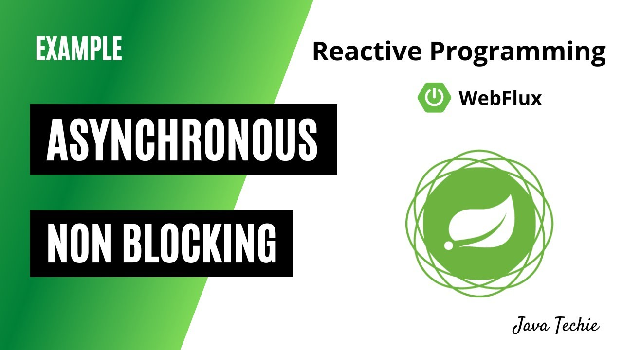 Spring Boot WebFlux | Asynchronous and Non Blocking Reactive Programming | Example