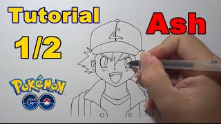 Como Desenhar e Colorir Ash 1/2 Pokémon - How to Draw Ash