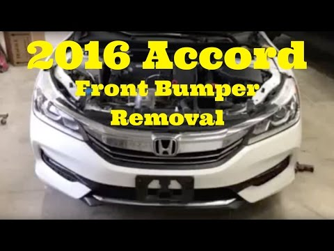2016 2017 Honda Accord ----- Front Bumper Removal Replace install How to Remove