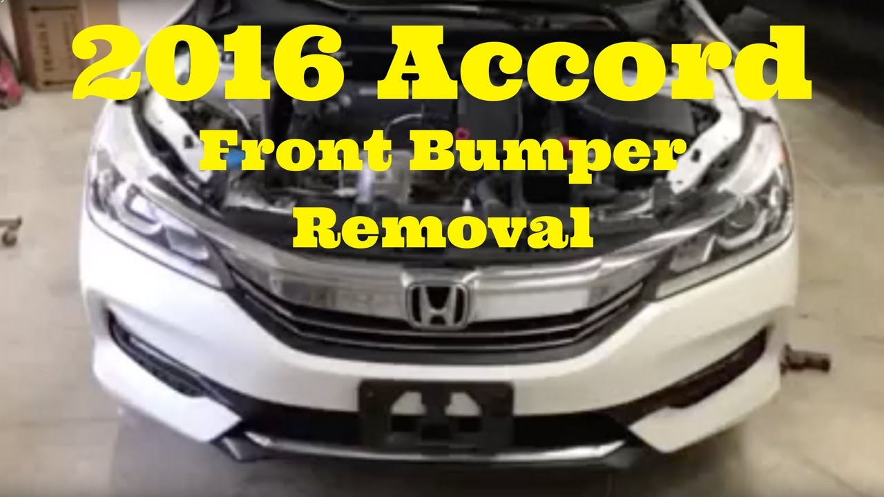 Honda Accord Front Bumper Removal Replace Install - 2018 acura tsx grill replacement