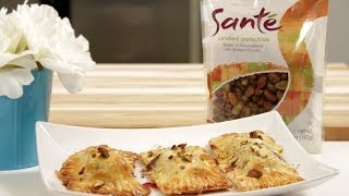 Brie Ravioli With Santé Nuts Candied Pistachios From George Duran