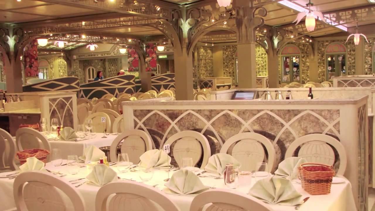 Disney Dream Enchanted Garden Restaurant Video Tour Youtube