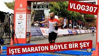 2017 İstanbul Maratonu'nu kamera ile koştum, derecem 3:18 | Asla Durma Vlog307