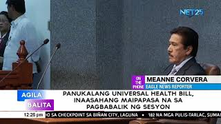 Senator Ejercito expresses hope Universal Health Care bill is passed when session resumes