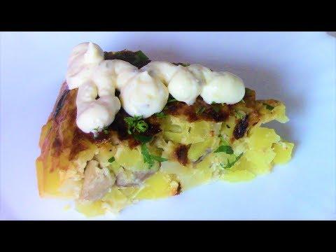 И сытно и вкусно, и готовится быстро! Картофельная запеканка с грибами. Рецепт для мультиварки.