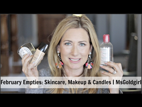 February Empties-Makeup, Skincare and Candles | MsGoldgirl