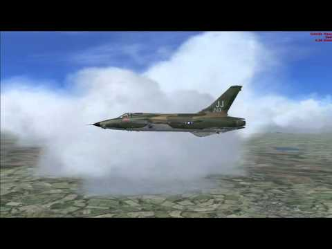 Republic F-105 Thunderchief FSX Vietnan - Takhli to Korat (VTPI - VTUN) - No music