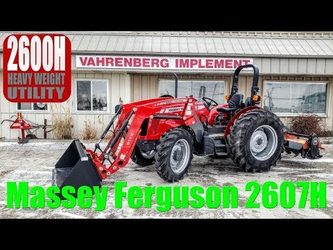 Massey Ferguson 2607H Heavy Weight, Small Chassis Utility Tractor
