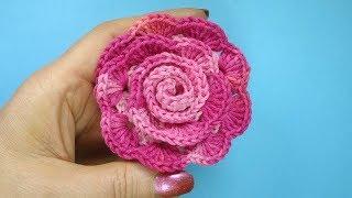 Как вязать цветок   Урок 95 How to crochet flower