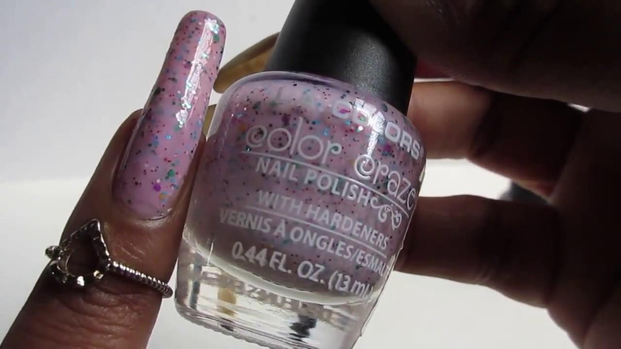 La Colors Confetti And Glitter Nail Polish Swatches Youtube