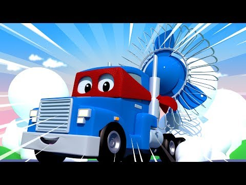 The WINDMAKER Truck - Carl the Super Truck - Car City ! Cars and Trucks Cartoon for kids