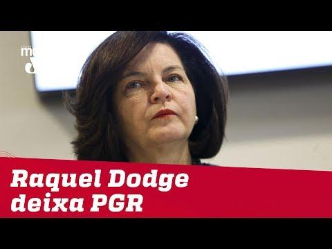 Raquel Dodge deixa PGR; Aras será sabatinado dia 25