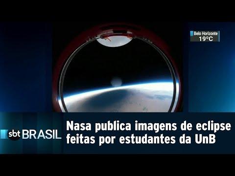 Nasa publica imagens de eclipse feitas por estudantes da UnB | SBT Brasil (28/08/18)