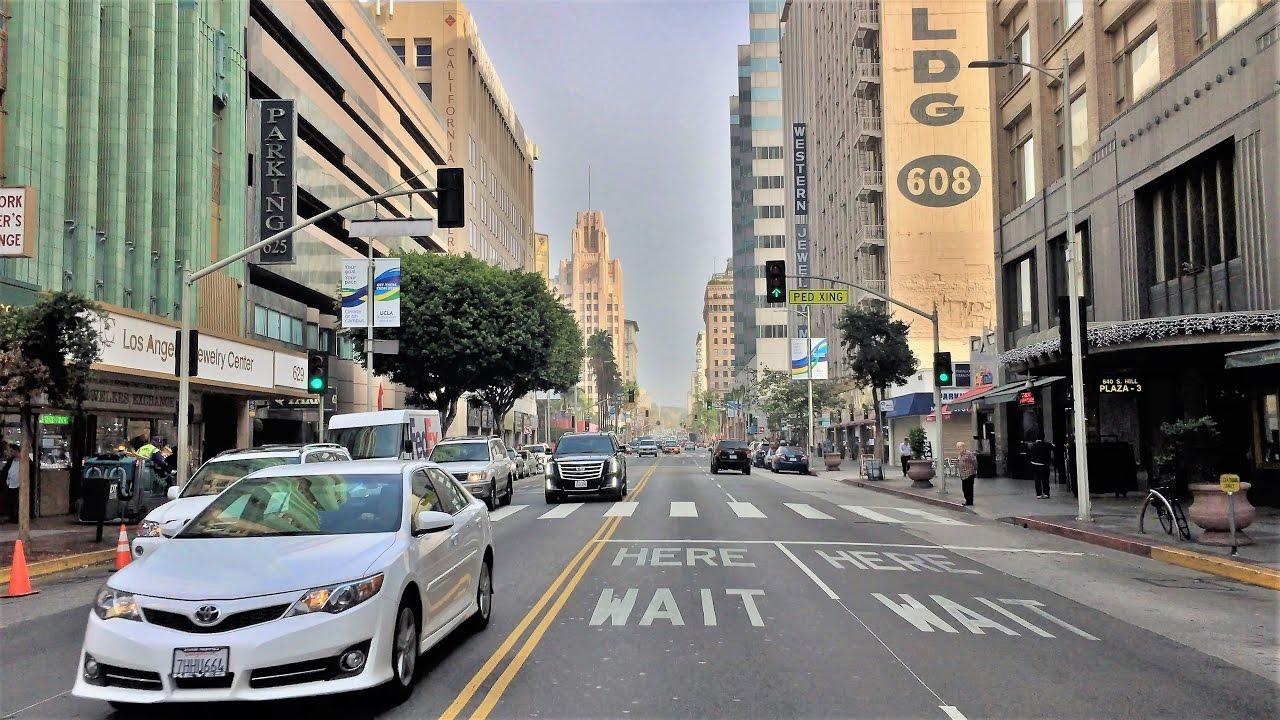 Driving Downtown - Los Angeles Diamond District 4K - USA