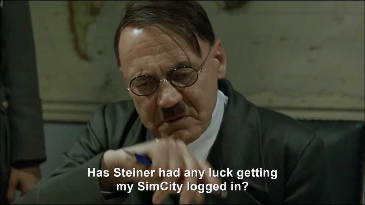 Hitler rants about SimCity