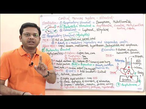 cns-stimulants--introduction,-classification-and-mechanism-of-action-(basics)-hindi