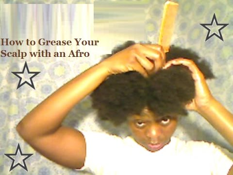 How to Grease Your Scalp with an Afro Using Coconut Oil & Petroleum Jelly Mix  Closed Caption