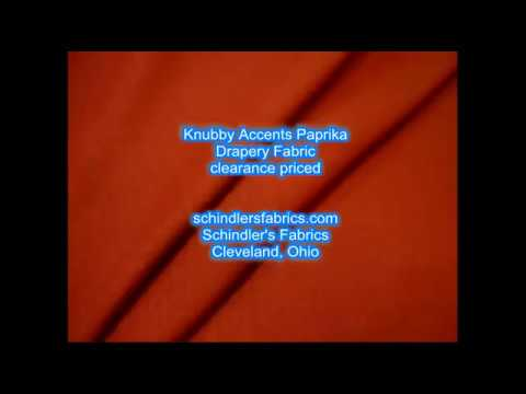 Knubby Accents Paprika Drapery fabric
