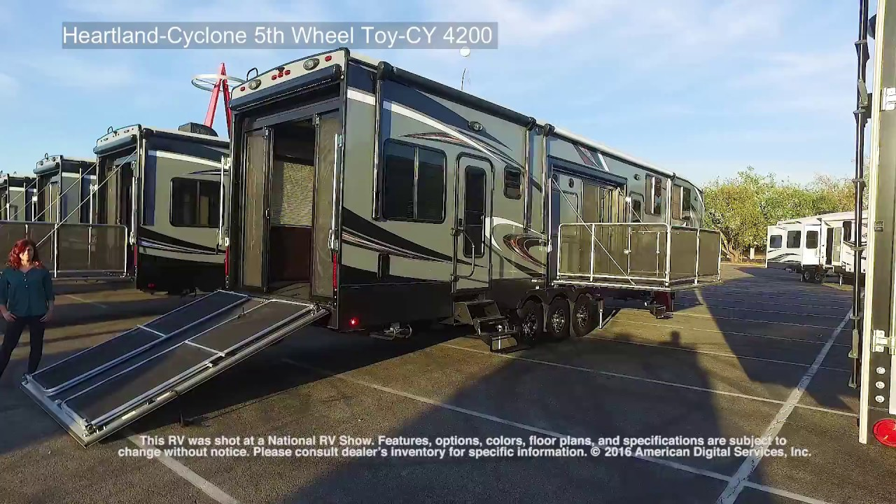 Heartland Cyclone 5th Wheel Toy Cy 4200 Youtube