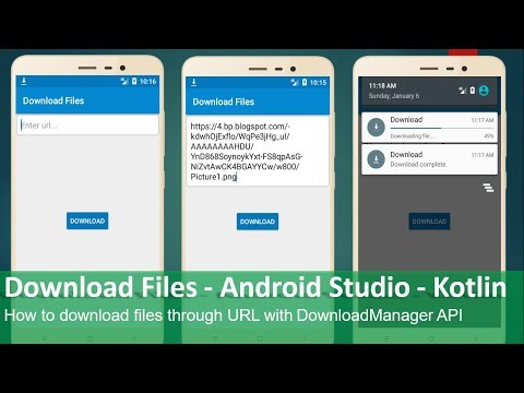 Download Files - Android Studio - Kotlin