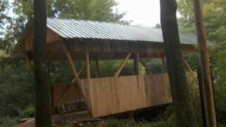 Buddy Davis Builds A Covered Bridge