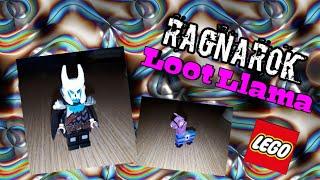 Lego custom Fortnite skin Ragnarok and the Loot Llama Supply Chest!!! (End of season 1)