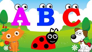 ABC SONG|ALPHABET FOR KIDS|LEARNING ALPHABET|CAT AND DOG|PHONICS SONG - KIDS PLAY SHOW