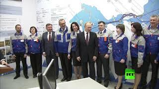 فيديو.. موقف ملفت للرئيس الروسي مع امرأة خلال زيارته للقرم