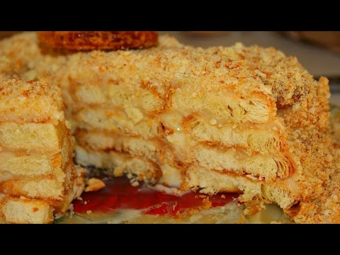 Торт из сухарей без выпечки