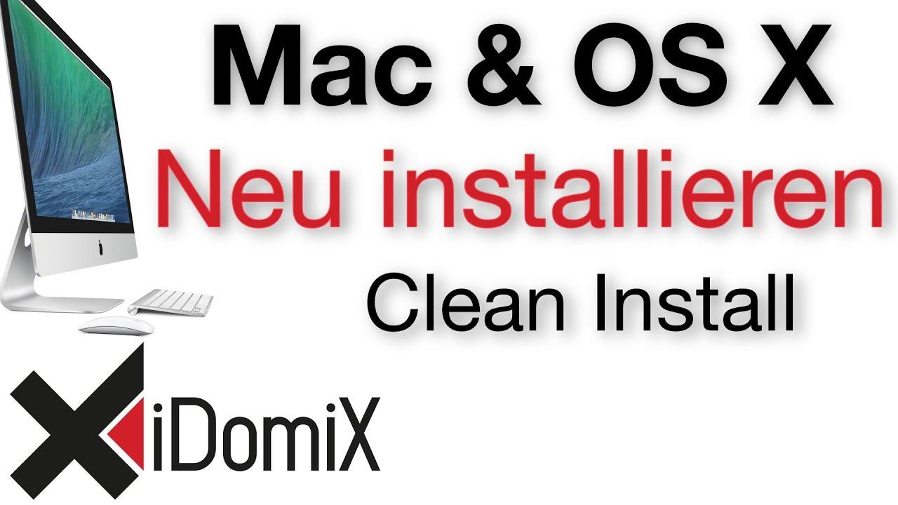 Mac Os X Neu Installieren Auslieferungszustand Clean Install El Capitan Youtube