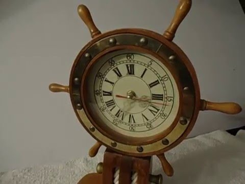 Aquatic/ Maritime/ Fishing Boat-Inspired Desk Clock