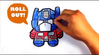 How to Draw Optimus Prime from Transformers (cute) - Easy Pictures to Draw