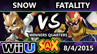 S@X 109 - SWS | Fatality (Captain Falcon) Vs. Snow (Fox) SSB4 WQ - Smash Wii U - Smash 4