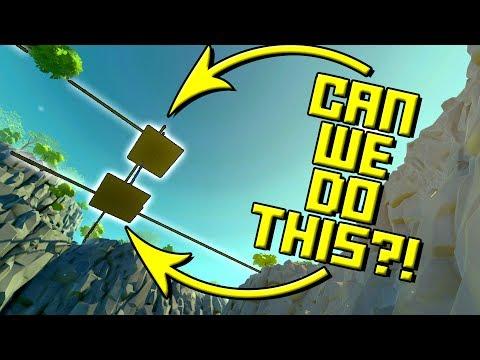 SUSPENDED MOUNTAIN BASE?! (The Beginnings) Scrap Mechanic Gameplay