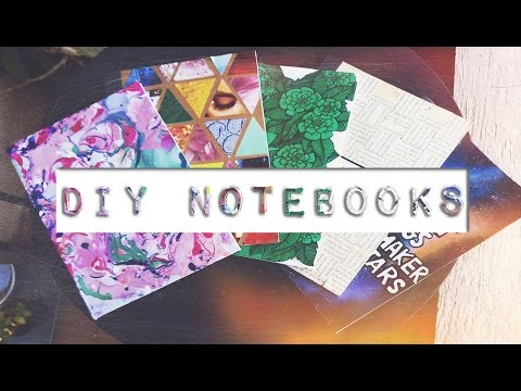 DIY CUSTOM NOTEBOOKS | Galaxy, Marbleised, Collage & Weaved notebooks covers