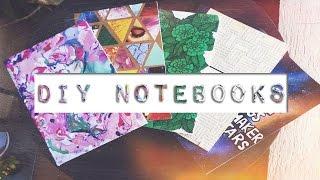 DIY CUSTOM NOTEBOOKS | Galaxy, Marbleised, Collage & Weaved notebooks covers