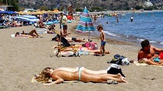Faliraki  Beach Rhodes Greece June 2016